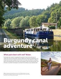 Attend Info session April 12, 2018  - Barging In Burgundy May 2019
